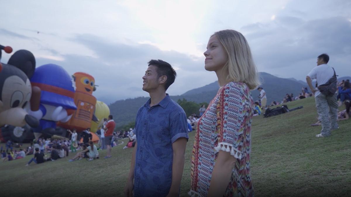 到鹿野搭乘熱氣球
